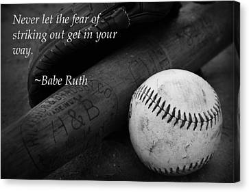 Babe Ruth Baseball Quote Canvas Print