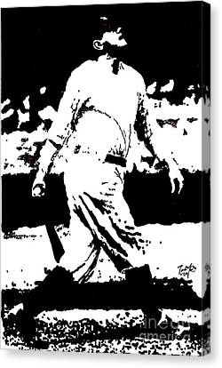 Babe Ruth Drawing Canvas Print by Rob Monte