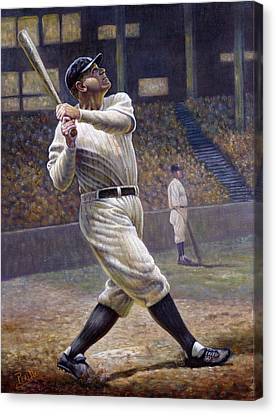 National League Canvas Print - Babe Ruth by Gregory Perillo