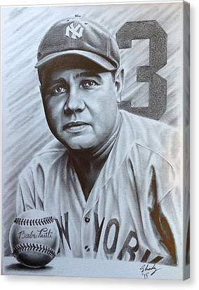 Babe Ruth Canvas Print by Jorge Hernandez