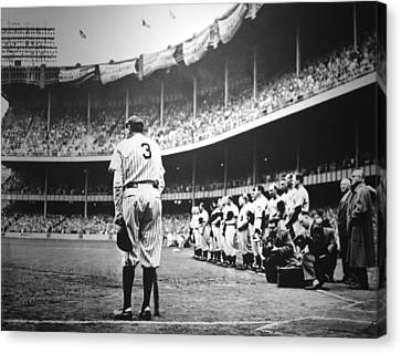 Mlb Canvas Print - Babe Ruth Poster by Gianfranco Weiss