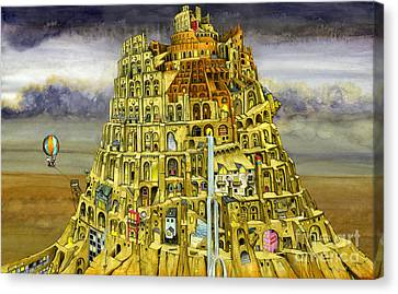 Babel Canvas Print by Colin Thompson