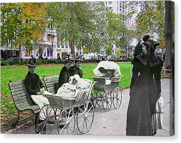 Babies In Rittenhouse Square Canvas Print