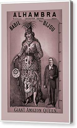 Babil And Bijou - Giant Amazon Queen Canvas Print by Maciek Froncisz