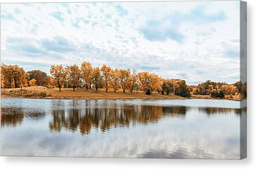 Baby Blue Broemmelsiek Skies Canvas Print by Bill Tiepelman