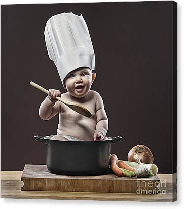 Chefs Canvas Print - Baby Chef by Justin Paget