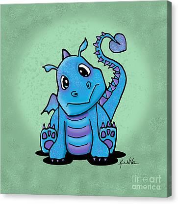 Baby Dragon Canvas Print by Kim Niles