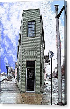 Baby Flatiron In River Rouge Canvas Print by MJ Olsen