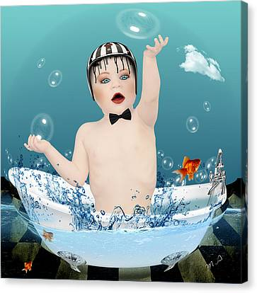 Caricature Canvas Print - Baby Fun Time by Mark Ashkenazi