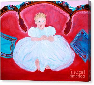 Baby Girl. Inspirations Collection. Canvas Print by Oksana Semenchenko