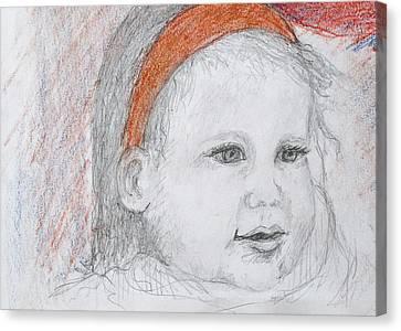Baby Josephine Canvas Print by Barbara Anna Knauf