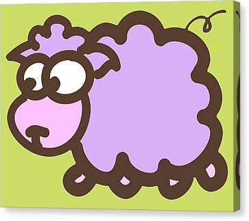 Baby Lamb Nursery Print Canvas Print by Nursery Art