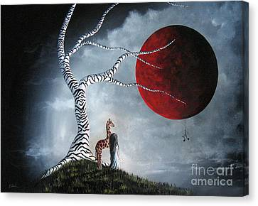Surrealist Canvas Print - Original Surreal Paintings By Erback by Shawna Erback
