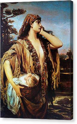 Baby Moses And Jacabed Canvas Print