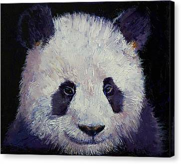 Baby Panda Canvas Print by Michael Creese