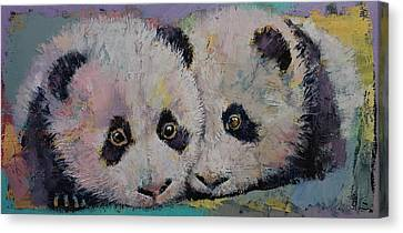 Baby Pandas Canvas Print by Michael Creese