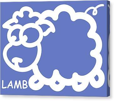 Baby Room Art - Lamb Canvas Print by Nursery Art