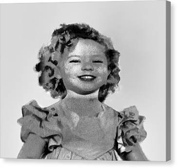 Baby Shirley Temple Sketch Canvas Print by Linda Phelps