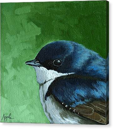 Baby Tree Swallow Canvas Print by Linda Apple