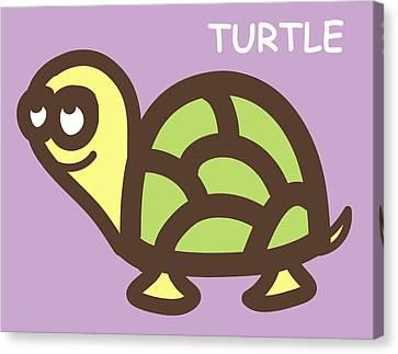 Baby Turtle Nursery Wall Art Canvas Print by Nursery Art