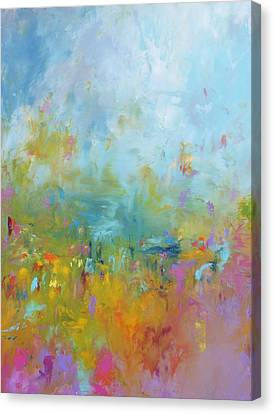 Baby You're A Firework Canvas Print by Sally Kelly