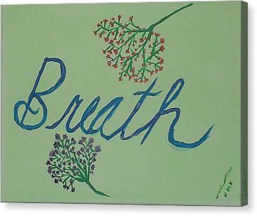 Baby'sbreath-part 2 Canvas Print by Nannette Kelly