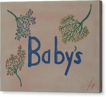 Baby'sbreath-part1 Canvas Print by Nannette Kelly