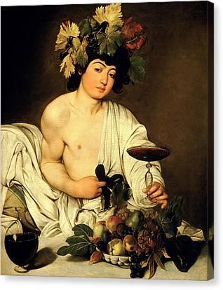 Bacchus 1595 Canvas Print by Caravaggio
