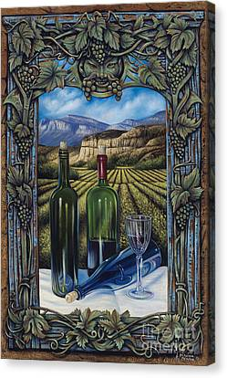 Bacchus Vineyard Canvas Print by Ricardo Chavez-Mendez