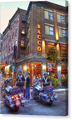 Bacco In The North End Boston Canvas Print by Joann Vitali