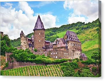Bacharach, Germany, Stahleck Castle Canvas Print by Miva Stock