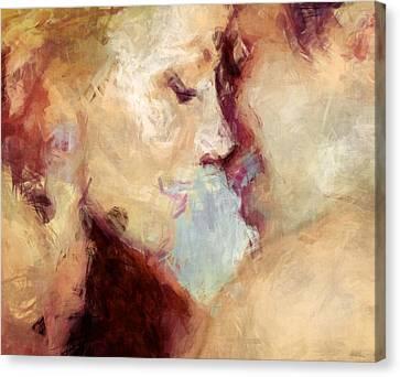 Passion Canvas Print - Baci Baci - Abstract Realism by Georgiana Romanovna