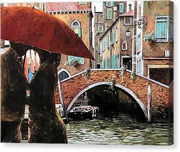 Venezia Canvas Print - Baci Tra Le Calli by Guido Borelli