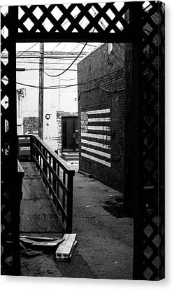 Back Alley America Canvas Print by Nathan Hillis