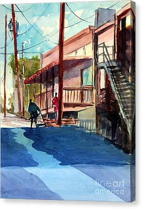 Back Alley Canvas Print by Ron Stephens