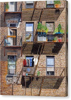 Back Alley View Greenwich Vlg Canvas Print by Stuart B Yaeger