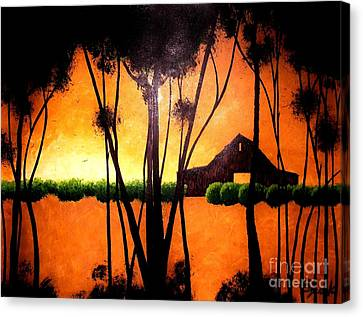 Back At The Barn Canvas Print by Kyle  Brock