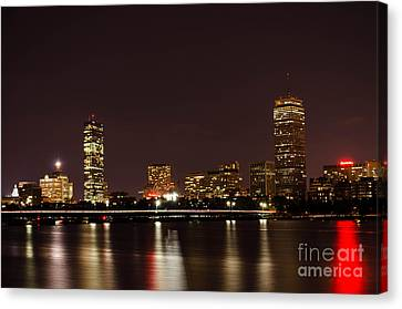 Canvas Print featuring the photograph Back Bay At Night by Mike Ste Marie