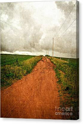 Back Country Road Prince Edward Island Canvas Print by Edward Fielding