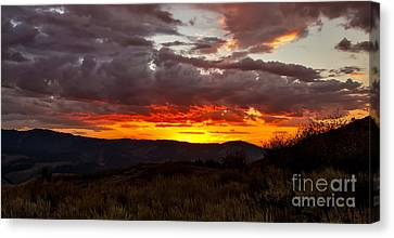 Back Country Sunset Canvas Print by Robert Bales