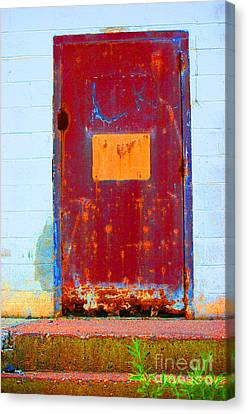 Canvas Print featuring the photograph Back Door by Christiane Hellner-OBrien