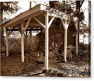 Back In The Day Woodshed Canvas Print by Skip Willits