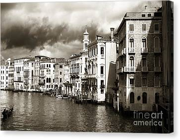 Back In Time On The Grand Canal Canvas Print by John Rizzuto