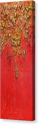 Abstract Art Canvas Print - Back In Time Part 2 by Julia Apostolova