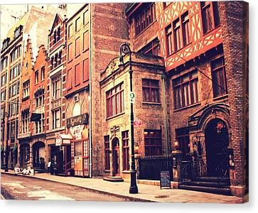 City Streets Canvas Print - Back In Time - Stone Street Historic District - New York City by Vivienne Gucwa