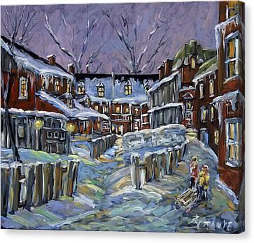 Back Lanes Buddies By Prankearts Canvas Print
