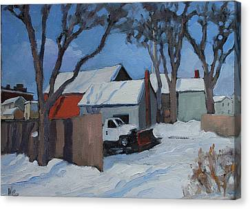 Back Lots Saugerties Canvas Print by Nancy Campbell