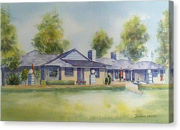 Back Of House Canvas Print by Debbie Lewis