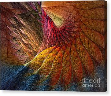 Back On Earth Abstract Art Print Canvas Print by Karin Kuhlmann