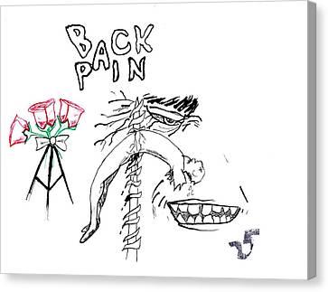 Back Pain Canvas Print by James Goodman